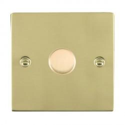 Hamilton Sheer Polished Brass 1 Gang 100W Intelligent LED Dimmer
