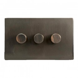 Hamilton Hartland CFX Etrium Bronze 3 Gang 100W Intelligent LED Dimmer