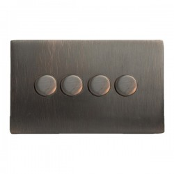 Hamilton Hartland CFX Etrium Bronze 4 Gang 100W Intelligent LED Dimmer