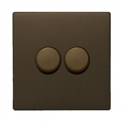 Hamilton Hartland CFX Richmond Bronze 2 Gang 100W Intelligent LED Dimmer