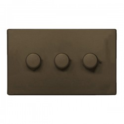 Hamilton Hartland CFX Richmond Bronze 3 Gang 100W Intelligent LED Dimmer