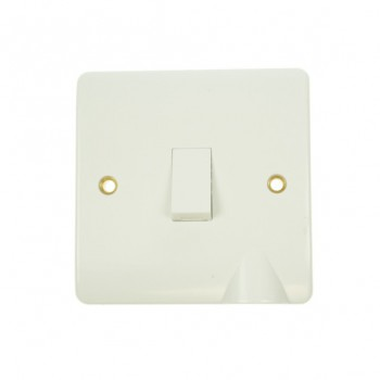 Click Mode 20amp White PVC Switch with Flex Outlet