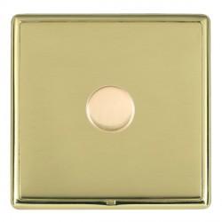 Hamilton Linea-Rondo CFX Polished Brass/Polished Brass 1 Gang 100W Intelligent LED Dimmer