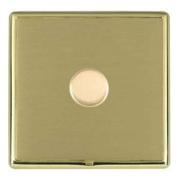 Hamilton Linea-Rondo CFX Polished Brass/Satin Brass 1 Gang 100W Intelligent LED Dimmer