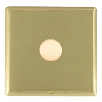 Hamilton Linea-Rondo CFX Satin Brass/Satin Brass 1 Gang 100W Intelligent LED Dimmer