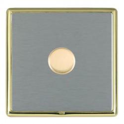 Hamilton Linea-Rondo CFX Polished Brass/Satin Steel 1 Gang 100W Intelligent LED Dimmer