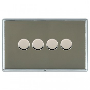 Hamilton Linea-Rondo CFX Bright Chrome/Black Nickel 4 Gang 100W Intelligent LED Dimmer