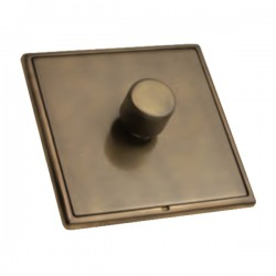 Hamilton Linea-Rondo CFX Connaught Bronze/Connaught Bronze 1 Gang 100W Intelligent LED Dimmer