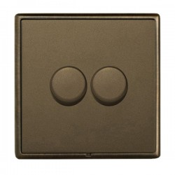 Hamilton Linea-Rondo CFX Richmond Bronze/Richmond Bronze 2 Gang 100W Intelligent LED Dimmer