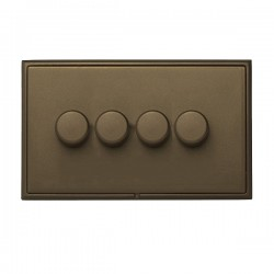 Hamilton Linea-Rondo CFX Richmond Bronze/Richmond Bronze 4 Gang 100W Intelligent LED Dimmer