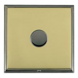 Hamilton Linea-Scala CFX Black Nickel/Polished Brass 1 Gang 100W Intelligent LED Dimmer