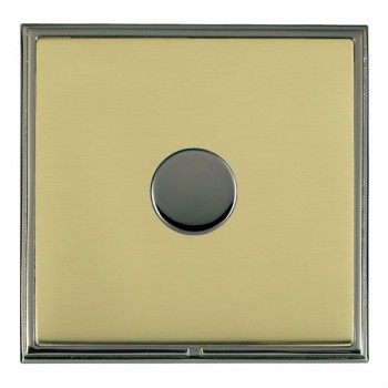 Hamilton Linea-Scala CFX Black Nickel/Polished Brass 1 Gang 100W Intelligent LED Dimmer