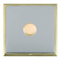 Hamilton Linea-Scala CFX Polished Brass/Bright Steel 1 Gang 100W Intelligent LED Dimmer