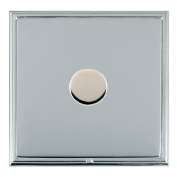 Hamilton Linea-Scala CFX Bright Chrome/Bright Steel 1 Gang 100W Intelligent LED Dimmer