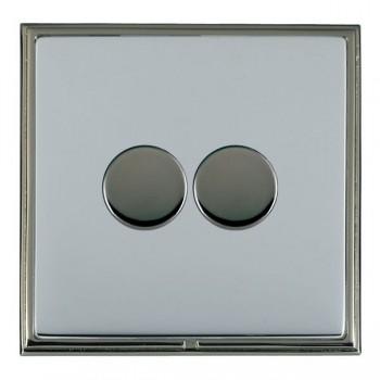 Hamilton Linea-Scala CFX Black Nickel/Bright Steel 2 Gang 100W Intelligent LED Dimmer