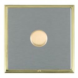 Hamilton Linea-Scala CFX Polished Brass/Satin Steel 1 Gang 100W Intelligent LED Dimmer