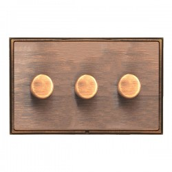 Hamilton Linea-Scala CFX Copper Bronze/Copper Bronze 3 Gang 100W Intelligent LED Dimmer