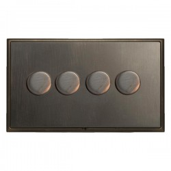 Hamilton Linea-Scala CFX Etrium Bronze/Etrium Bronze 4 Gang 100W Intelligent LED Dimmer