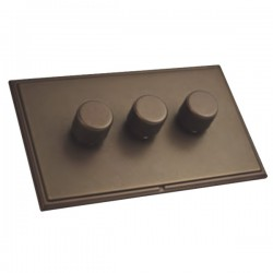 Hamilton Linea-Scala CFX Richmond Bronze/Richmond Bronze 3 Gang 100W Intelligent LED Dimmer