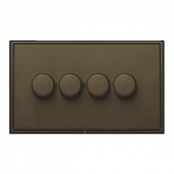Hamilton Linea-Scala CFX Richmond Bronze/Richmond Bronze 4 Gang 100W Intelligent LED Dimmer