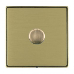Hamilton Linea-Duo CFX Antique Brass/Satin Brass 1 Gang 100W Intelligent LED Dimmer