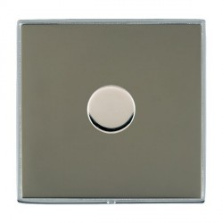 Hamilton Linea-Duo CFX Bright Chrome/Black Nickel 1 Gang 100W Intelligent LED Dimmer