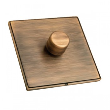 Hamilton Linea-Duo CFX Copper Bronze/Copper Bronze 1 Gang 100W Intelligent LED Dimmer