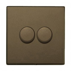 Hamilton Linea-Duo CFX Richmond Bronze/Richmond Bronze 2 Gang 100W Intelligent LED Dimmer