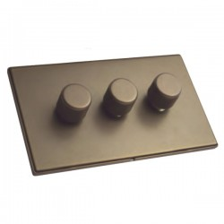 Hamilton Linea-Duo CFX Richmond Bronze/Richmond Bronze 3 Gang 100W Intelligent LED Dimmer