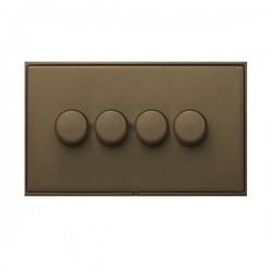 Hamilton Linea-Duo CFX Richmond Bronze/Richmond Bronze 4 Gang 100W Intelligent LED Dimmer