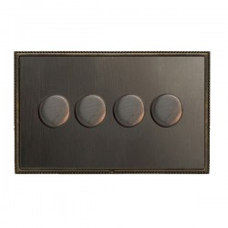 Hamilton Linea-Perlina CFX Etrium Bronze/Etrium Bronze 4 Gang 100W Intelligent LED Dimmer
