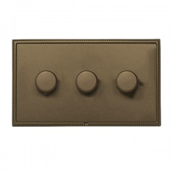 Hamilton Linea-Perlina CFX Richmond Bronze/Richmond Bronze 3 Gang 100W Intelligent LED Dimmer