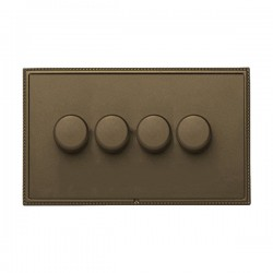 Hamilton Linea-Perlina CFX Richmond Bronze/Richmond Bronze 4 Gang 100W Intelligent LED Dimmer