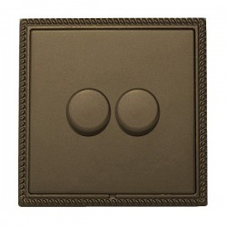 Hamilton Linea-Georgian CFX Richmond Bronze/Richmond Bronze 2 Gang 100W Intelligent LED Dimmer