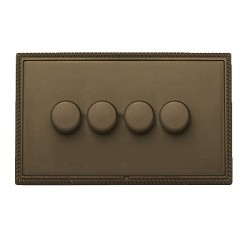 Hamilton Linea-Georgian CFX Richmond Bronze/Richmond Bronze 4 Gang 100W Intelligent LED Dimmer