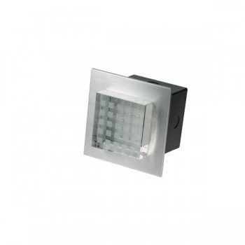 Click Ovia LED450BAWH 230V IP54 Cool White LED Square Semi-Recessed Brushed Aluminium Light