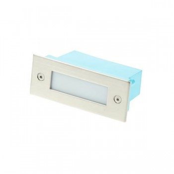 Click Ovia LED470SSBL 230V IP54 Blue LED Rectangular Recessed Rectangular Stainless Steel Light Full Glass