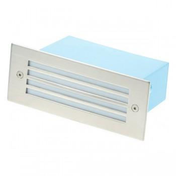 Click Ovia LED480SSWH 230V IP54 Cool White LED Rectangular Recessed Stainless Steel Light Slatted Glass