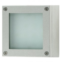 Click Ovia LED400SVBL 230V IP54 Blue LED Square Surface Silver Light