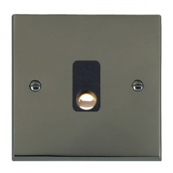 Hamilton Cheriton Victorian Black Nickel 20A Cable Outlet with Black Insert