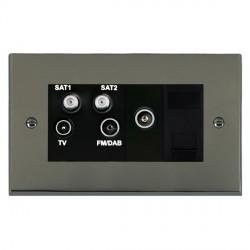 Hamilton Cheriton Victorian Black Nickel TV+FM+SAT+SAT (DAB Compatible)+TV+TCS (DAB Compatible) with Blac...