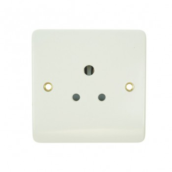 Click Mode Single 5amp White PVC Round Pin Socket