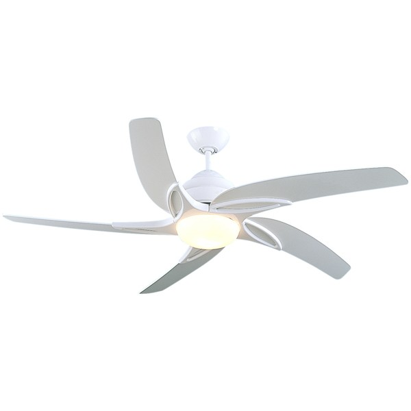 Fantasia Viper 44 Inch Remote Control White Ceiling Fan With Gloss White Blades And Light At Uk