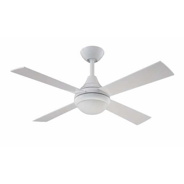 Fantasia Sigma 42 Inch Remote Control White Ceiling Fan With Gloss Blades And Light