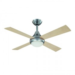 Fantasia Sigma 42 inch Remote Control Stainless Steel Ceiling Fan with Reversible Matt Maple/Dark Oak Bla...