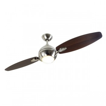 Fantasia Propeller 54 inch Remote Control Brushed Nickel 2-Blade Ceiling Fan with Dark Oak Blades and Light