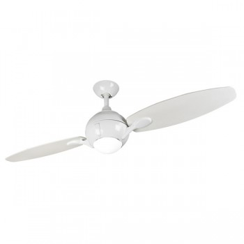 Fantasia Propeller 54 inch Remote Control White 2 Blade Ceiling Fan with White Blades and Light