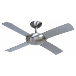 Fantasia Orion 44 inch Remote Control Brushed Aluminium Ceiling Fan with Matt Silver Blades