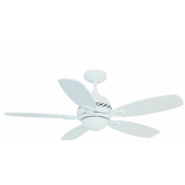 Fantasia Phoenix 42 Inch Remote Control Matt White Ceiling Fan With Blades And Light
