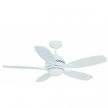 Fantasia Phoenix 42 inch Remote Control Matt White Ceiling Fan with Matt White Blades and Light